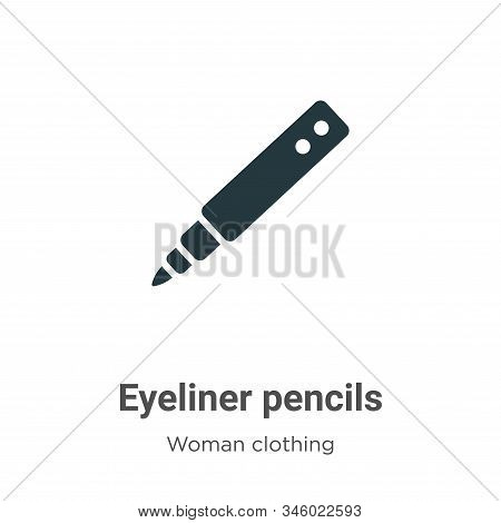 Eyeliner pencils icon isolated on white background from woman clothing collection. Eyeliner pencils
