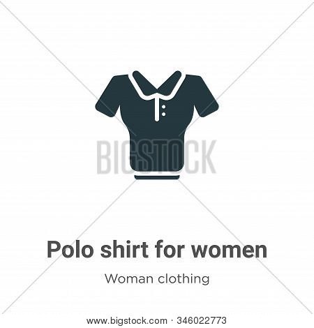 Polo shirt for women icon isolated on white background from woman clothing collection. Polo shirt fo