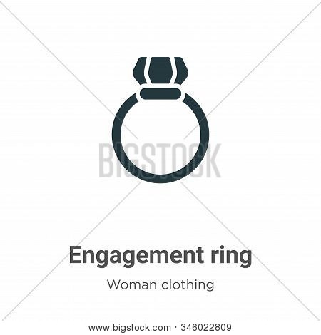 Engagement ring icon isolated on white background from woman clothing collection. Engagement ring ic