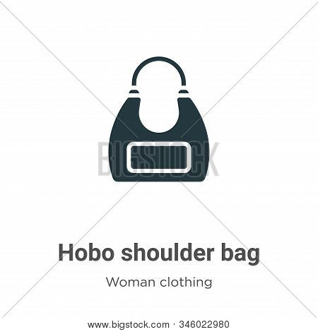 Hobo Shoulder Bag Vector Icon On White Background. Flat Vector Hobo Shoulder Bag Icon Symbol Sign Fr