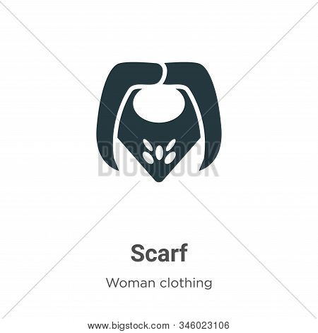 Scarf Vector Icon On White Background. Flat Vector Scarf Icon Symbol Sign From Modern Woman Clothing