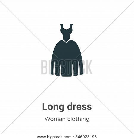 Long dress icon isolated on white background from woman clothing collection. Long dress icon trendy