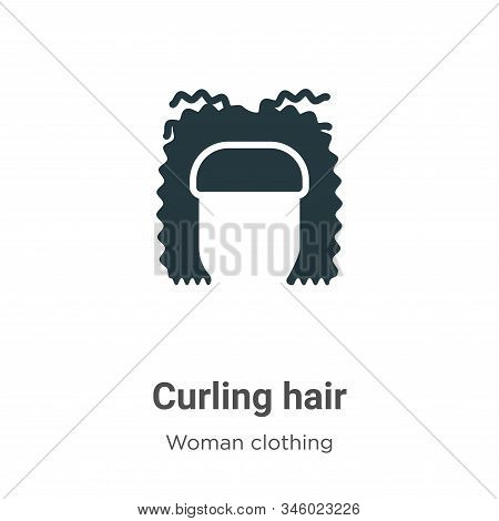 Curling Hair Vector Icon On White Background. Flat Vector Curling Hair Icon Symbol Sign From Modern