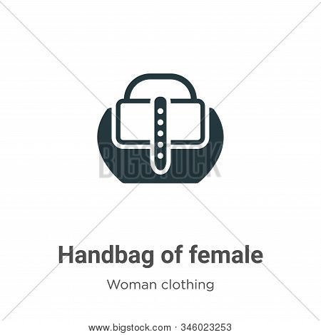 Handbag of female icon isolated on white background from woman clothing collection. Handbag of femal