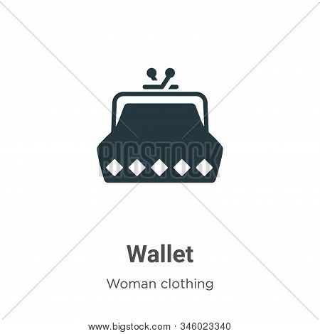 Wallet icon isolated on white background from woman clothing collection. Wallet icon trendy and mode