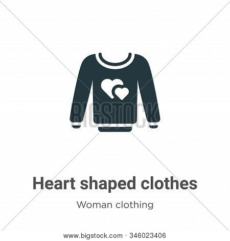Heart shaped clothes icon isolated on white background from woman clothing collection. Heart shaped