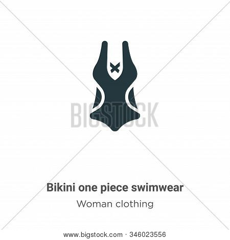 Bikini one piece swimwear icon isolated on white background from woman clothing collection. Bikini o