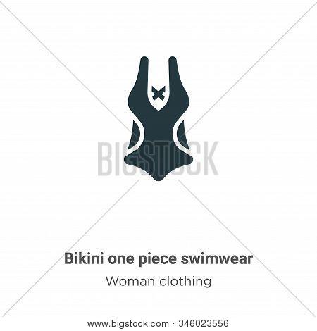Bikini One Piece Swimwear Vector Icon On White Background. Flat Vector Bikini One Piece Swimwear Ico