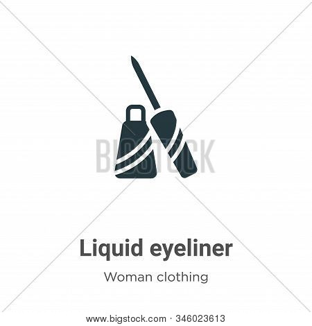 Liquid eyeliner icon isolated on white background from woman clothing collection. Liquid eyeliner ic