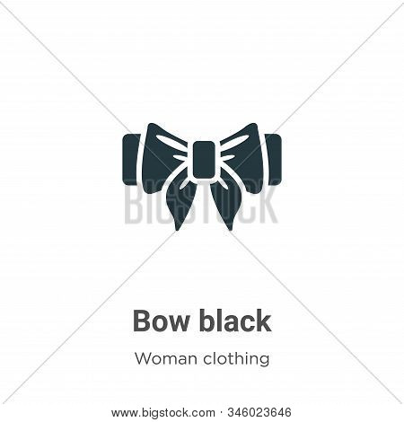 Bow black icon isolated on white background from woman clothing collection. Bow black icon trendy an
