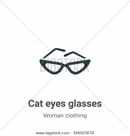 Cat eyes glasses icon isolated on white background from woman clothing collection. Cat eyes glasses