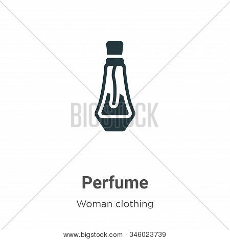 Perfume icon isolated on white background from woman clothing collection. Perfume icon trendy and mo
