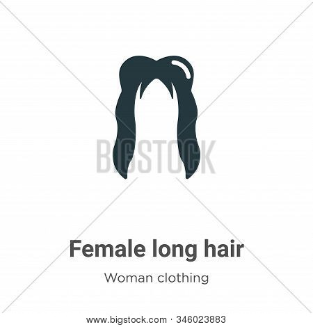 Female long hair icon isolated on white background from woman clothing collection. Female long hair