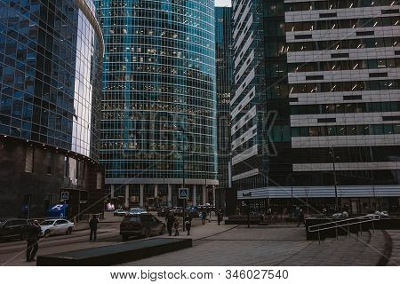 Moscow, Russia - August 18, 2019: A Typical Day In Moscow City