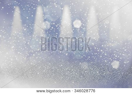 Wonderful Shining Abstract Background Stage Spotlights With Sparks Fly Defocused Bokeh - Festal Mock