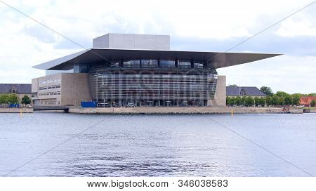 Copenhagen, Denmark - Jul 06th, 2015: View Of The Modern Opera House Building Situated In The Danish