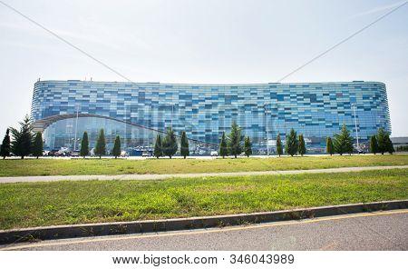 Adler, Sochi, Russia - September 6, 2018: Ice Palace