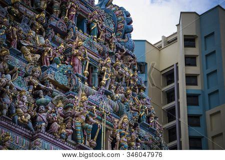 Sri Veeramakaliamman Temple At Little India In Singapore