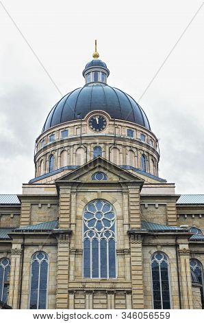 Landmark Basilica Dome And Facade In Lincoln Village Neighborhood Of Milwaukee Wisconsin