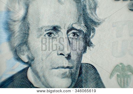 Andrew Jackson As Depicted On The Us 20 Dollar Bill