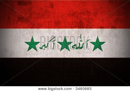 Grunge Flag Of Iraq