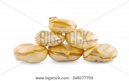 Toddy Palm Tropical Fruit An Isolated On White Background