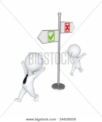 Choice concept.Isolated on white background.3d rendered illustration. poster