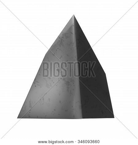 Rock Gravel Stone Rough Cobble Boulder Vector. Solid Sharp Edged Stone Mountain Detail For Construct