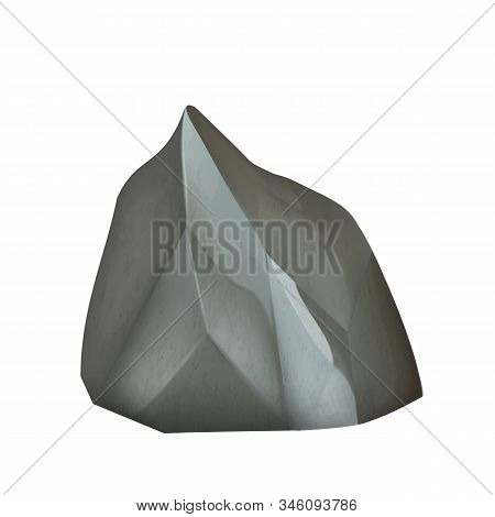 Stone Gravel River Decoration Rock Cobble Vector. Geological Or Mineral Mountain Climb Stone Cobbles