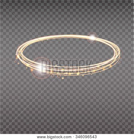 Bright Halo. Abstract Glowing Circles. Light Optical Effect Halo On Transparent Background. Vector I