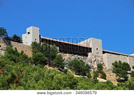 View Of Santa Catalina Castle Which Overlooks The City, Jaen, Jaen Province, Andalucia, Spain, Weste
