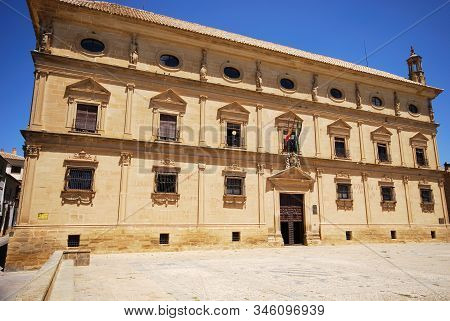 Front View Of The Town Hall Housed In Palacio De Las Cadenas (chains Palace), Ubeda, Andalucia, Spai
