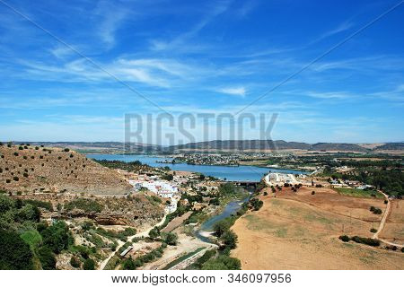 View Of The Reservoir (embalse De Arcos) And Surrounding Countryside, Arcos De La Frontera, Andaluci