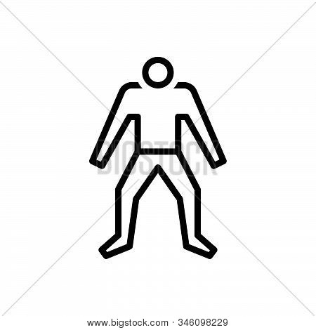 Black Line Icon For Human Human-being Psyche Persona Personality