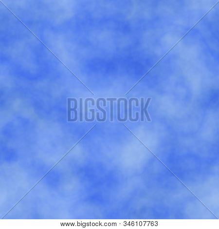 Blue Misty Hazy Marble Seamless Tie-dye Background