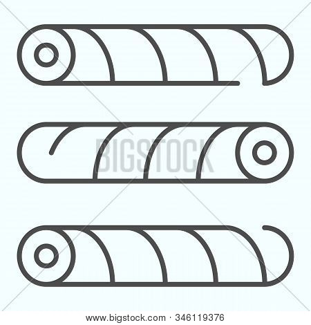Wafer Straws Thin Line Icon. Tubule Candy Vector Illustration Isolated On White. Wafer Tubule Outlin