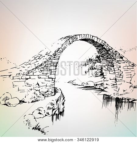 Old Bridge, Stone Bridge Over The River