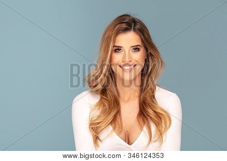 Beauty Photo Of Happy Smiling Woman.