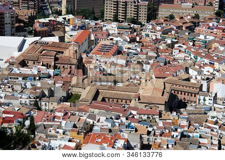 Jaen, Spain - July 28, 2008 - Elevated View Across The City Rooftops, Jaen, Jaen Province, Andalucia