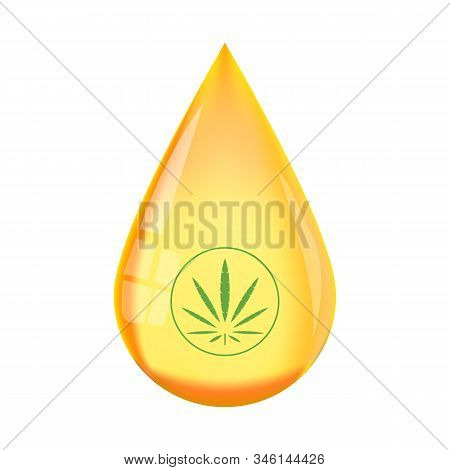 Hemp Liquid Cbd Oil Tincture Concentrate Drop Vector. Cbd Oil Benefits,medical Uses For Cbd Oil