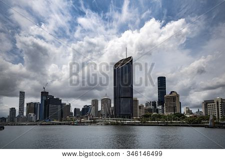 Brisbane Cityscape In The Capital Of Queensland Australia