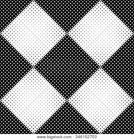 Geometrical Circle Pattern Background Design - Monochrome Abstract Vector Illustration