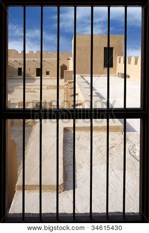 visualizing from the window inside the Riffa Fort Bahrain