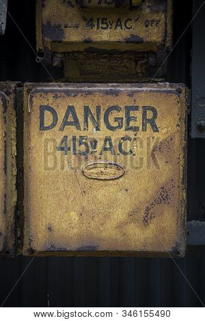 Danger High Voltage At Abandoned Industrial Area