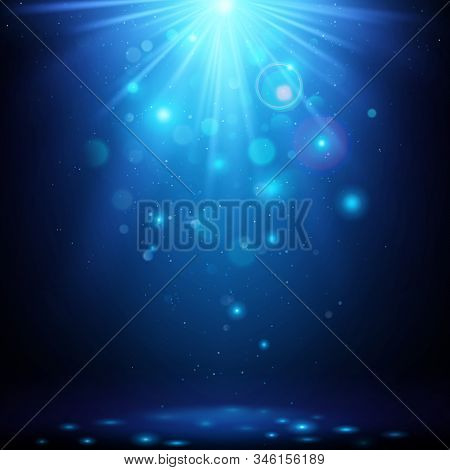 Blue Magic Bokeh Light Background. Abstract Magic Effect Background. Eps 10