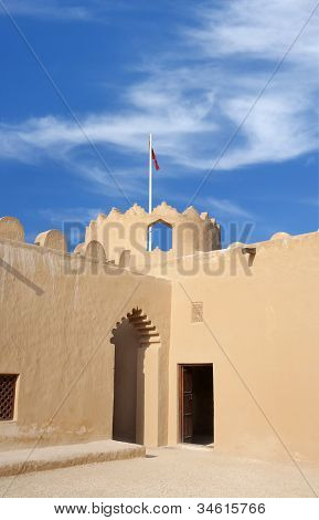 Close view of the western watch tower of Riff fort Bahrain