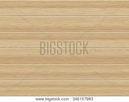 Seamless Wooden Board Surface Background. Eps 10 Vector