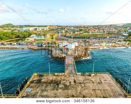 The Island Curacao Is A Tropical Paradise In The Antilles In The Caribbean Sea With Beautiful Archit