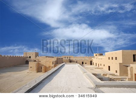 A beautiful broad inside view from the II level of the Riffa Fort Bahrain
