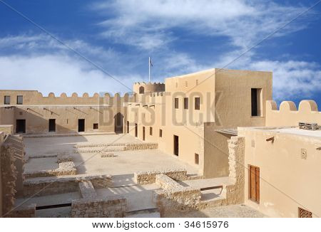 Looking towards western area of the Riffa Fort Bahrain